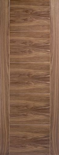 Internal Walnut Vancouver 5 Panel Half Hour Fire Rated Door